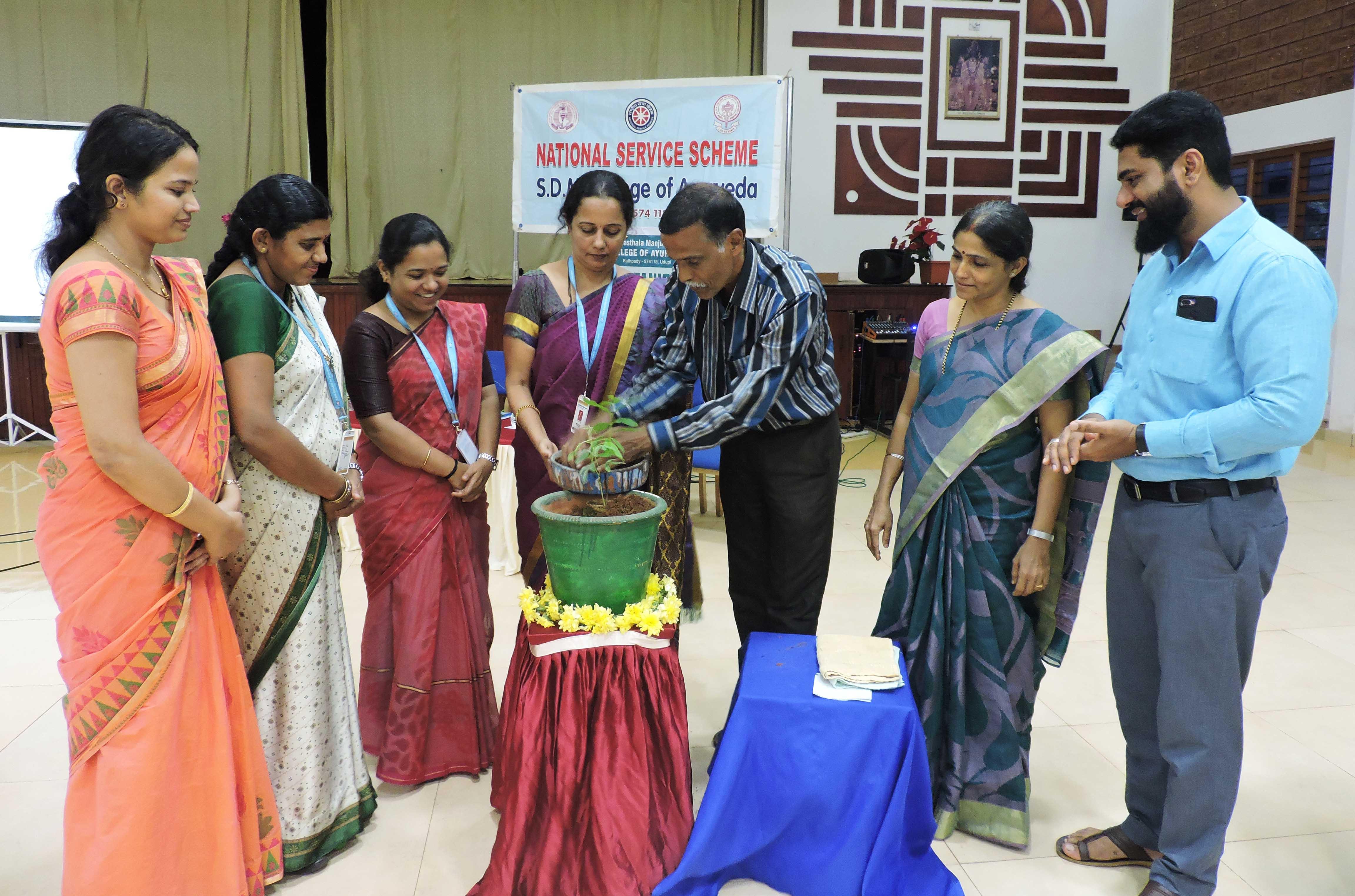 'Vanamahotsava Saptaaha at SDM Ayurveda Udupi'
