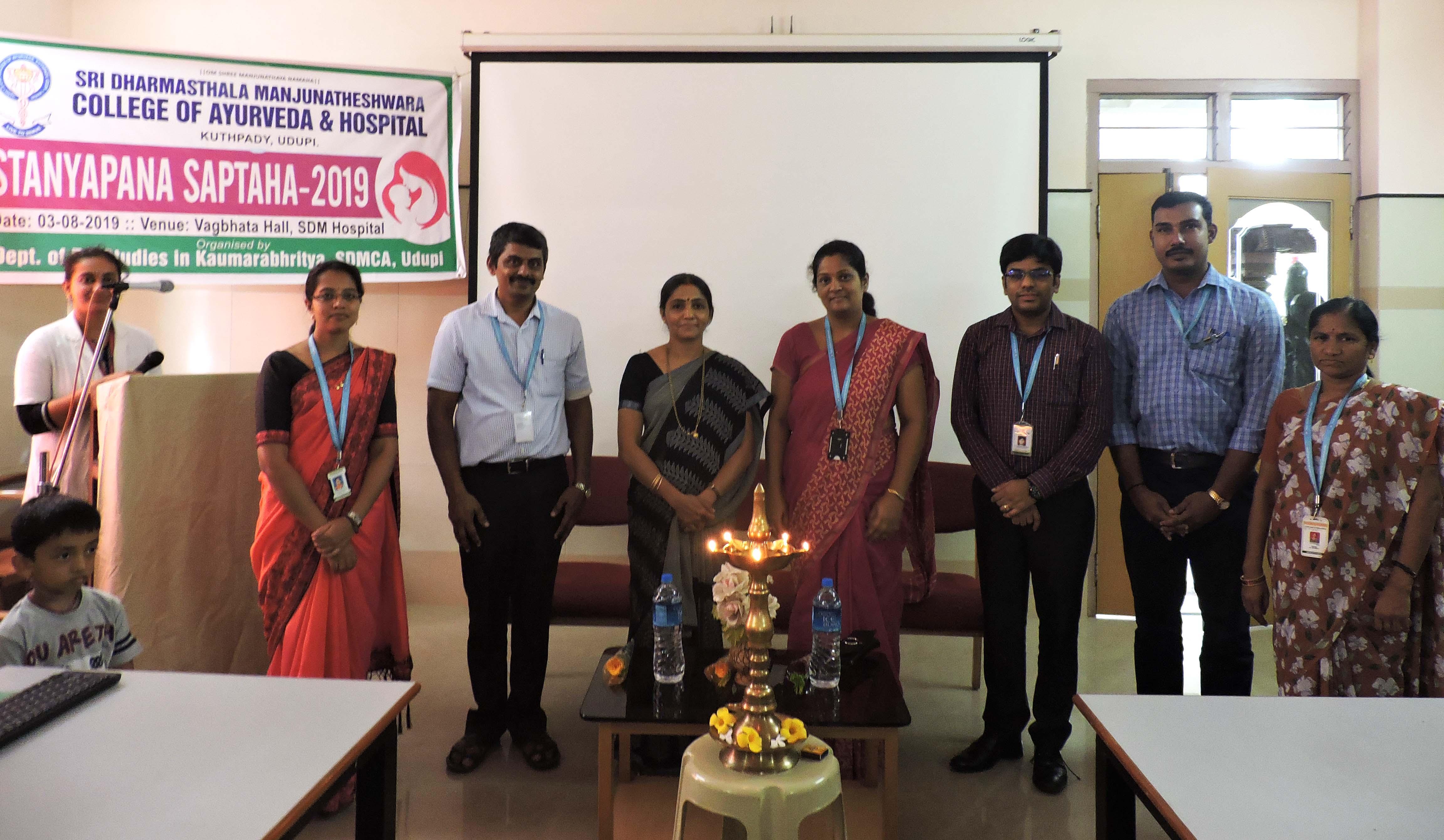 Breast Feeding Week observed at Ayurveda College Bangalore